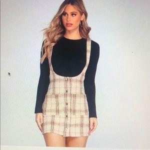 Windsor plaid overall skirt